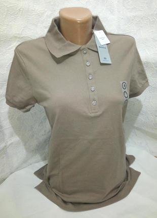 48 50 классическая бежевая футболка поло пике премиум качество c&a