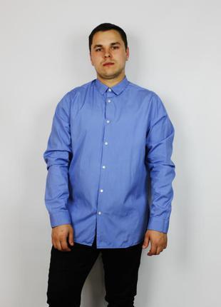 Оригинальная брендовая рубашка  burberry нежно голубого цвета