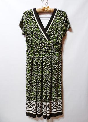 Платье трикотажное с принтом