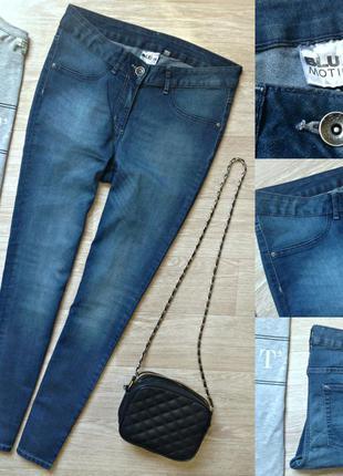 #272 синие джинсы скинни средней посадки blue motion