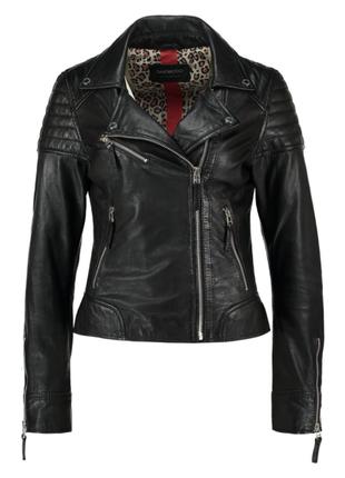 100% кожа. приталенная куртка/косуха oakwood, франция. s-m (44-46)