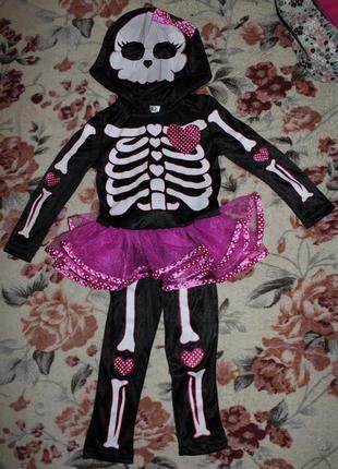 Костюм скилетика на хэллоуин