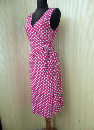 Трикотажное платье в горошек modesenze quelle