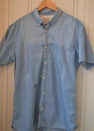 Selected homme стильная джинсовая рубашка