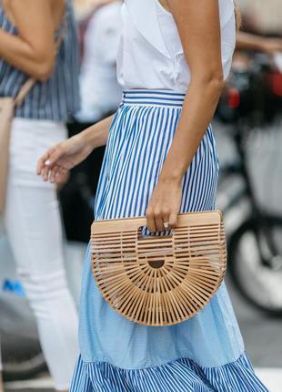 Деревянная объемная сумка- корзинка, хит блоггеров cult gaia