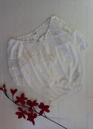 Блуза с кружевом/вышиванка amisu