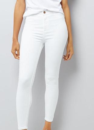 Джинсы скинии белые американо new look размер xs