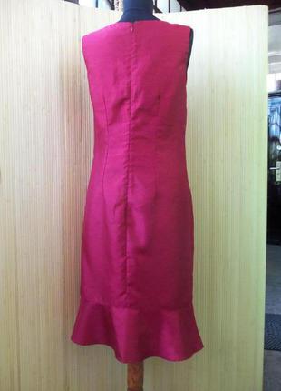 Французское платье футляр с баской affinités цвета марсала s/m2