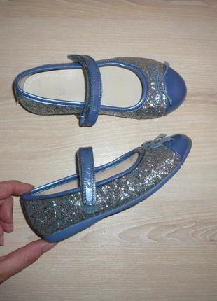 Туфли балетки кларкс clarks 9 р 27 р 17 см липучки узкая