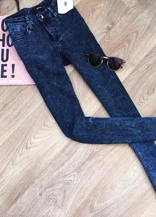 Синие джинсы tally weijl / джеггенсы варенки / скинни / брюки / штаны