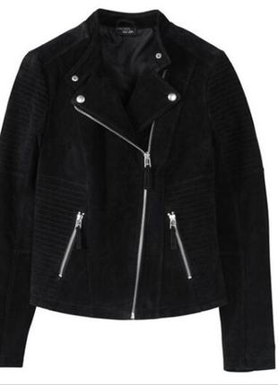 Esmara by heidi klum нереально крутая дизайнерская куртка натуральный замш 36р