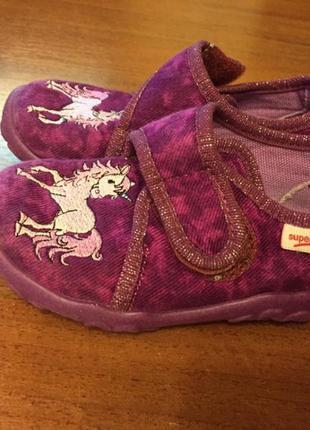 Дитячі тапочки туфельки з единорогом