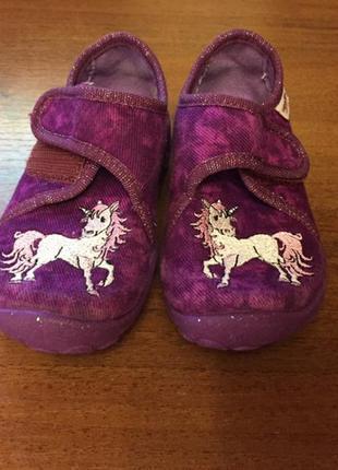 Дитячі тапочки туфельки з единорогом2