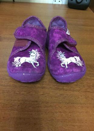 Дитячі тапочки туфельки з единорогом5