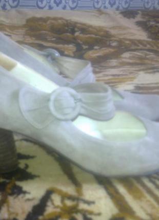 Туфли audley испания, 100%замша, 38-38.5 раз. сток.