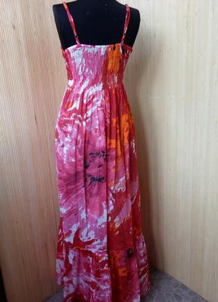 Летнее длинное платье сарафан тонкий хлопок4