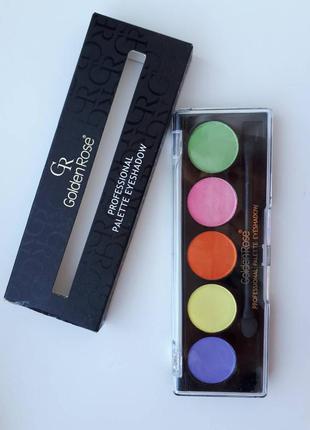 Палетка профессиональных теней для век от golden rose professional palette eyeshadow 107