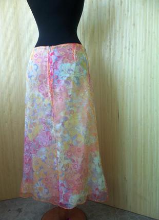Летящая юбка натуральный шелк с поясом резинкой paul brail4 фото