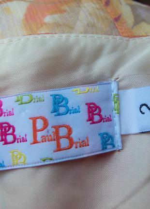 Летящая юбка натуральный шелк с поясом резинкой paul brail5 фото