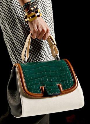 Комбинированная кожаная сумка-тоут  fendi