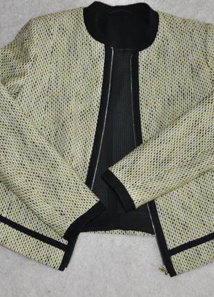 Пиджак бомбер куртка на молнии желтый бежевый marks&spencer оригинал