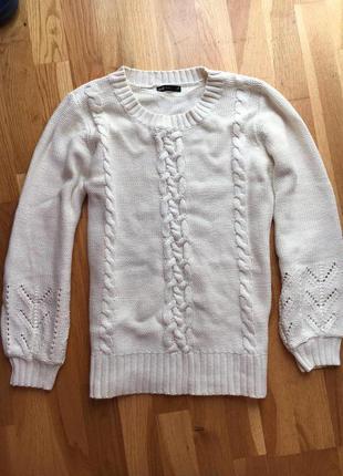 Теплый вязаный свитер джемпер кофта