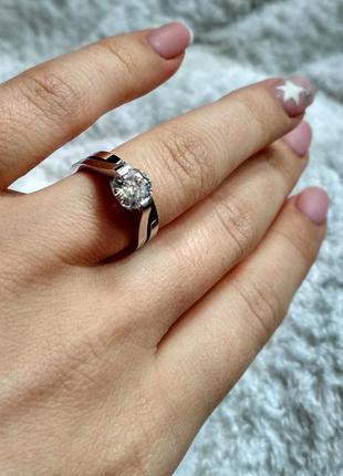 Шикарное двойное кольцо с бриллиантовой огранкой