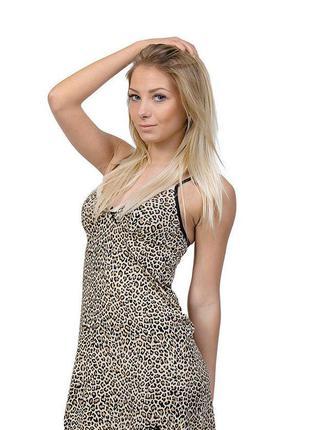 Большая сексуальная леопардовая  ночнушка, ночная сорочка, размер 20, 4хл