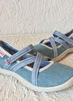 Босоножки туфельки джинсовые teva mary jane