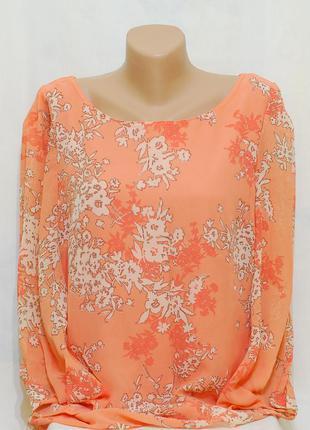 """Блуза в цветочный принт """"papaya"""""""