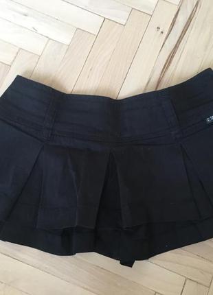 Супер чорна юбка-шорти