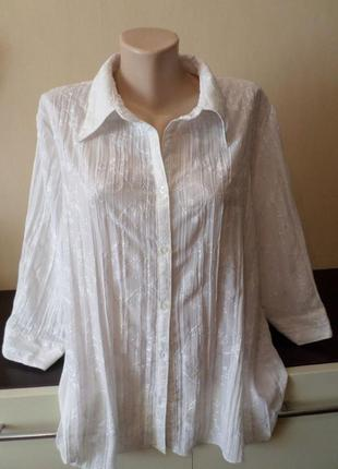 Вышитая блуза 54 разм.