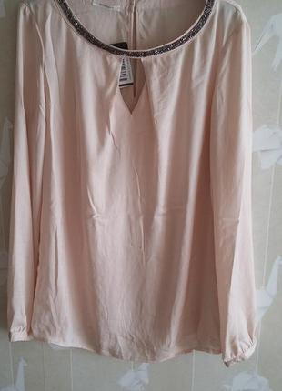 Блуза пудрового цвета