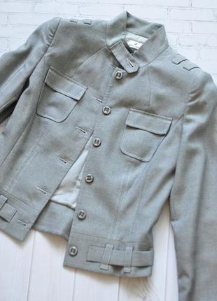 Шерстяной блейзер пиджак жакет