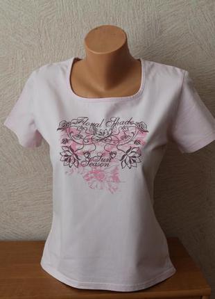 Yessica- красивая футболка нежно-розового цвета, германия, р. м- оригинал