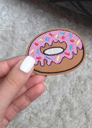 Термо наклейка, аппликация, нашивка пончик