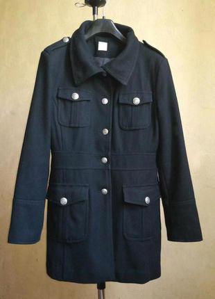 Пальто весенее чёрное шерсть