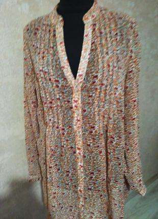 Стильная удлиненная блуза , размер 48-50