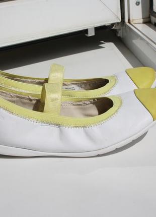 Гибкие легкие балетки на девочку clarks кожа 29 размер