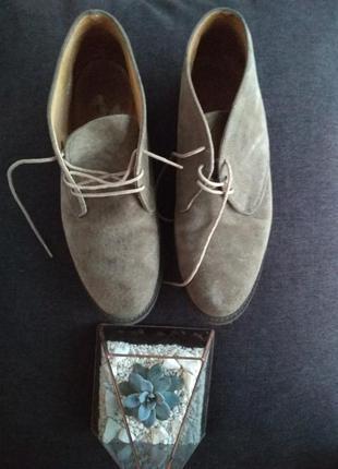 Дезерты челси ботинки англия натуральная замша
