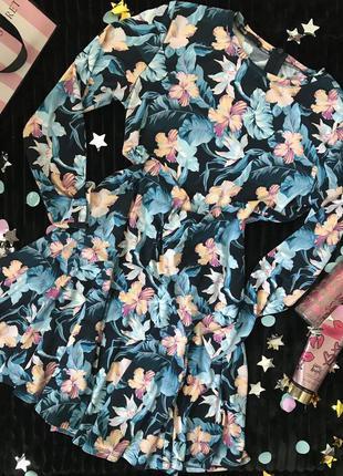 Распродажа 🍀трендовое платье с тропическим принтом