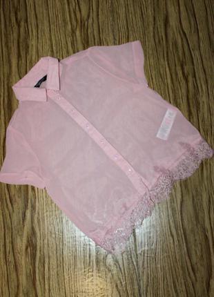 Нежная шифоновая блузка на девочку 10 лет