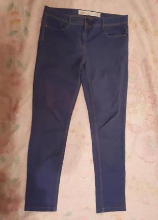 Голубые джинсы скинни на весну, лето. высокая посадка.