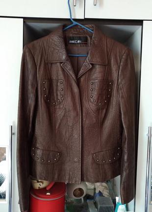Кожаная куртка marc cain