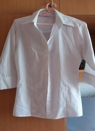 Белая рубашка marks&spencer