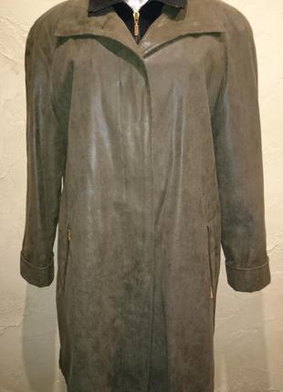 Оригинальный хаки с подстежкой на флисе плащ пальто canada c&a 2xl 18