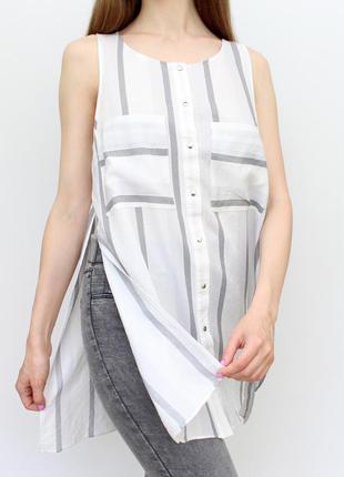 Подовжена блуза в полоску river island