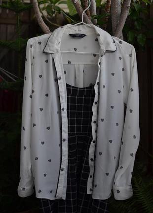 Блуза с сердечками dorothy perkins