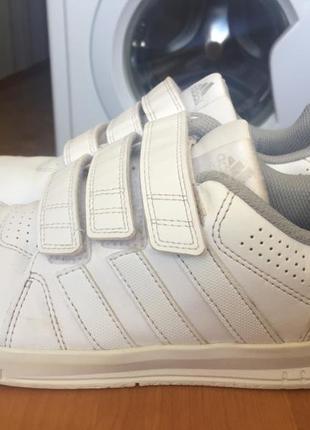 Кроссовки adidas оригинал белые на липучках