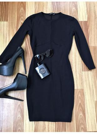 Платье бандажное рубчик bershka